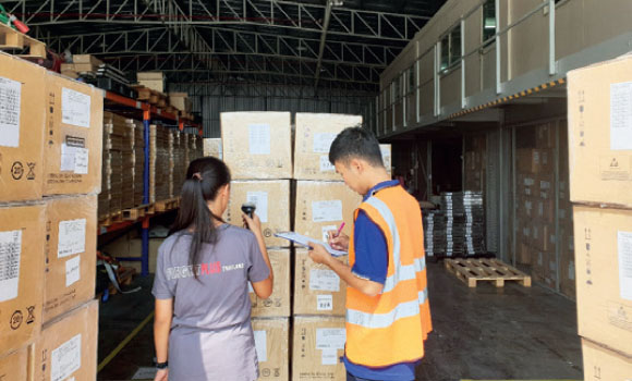 Inventory check as FPT Global warehouse