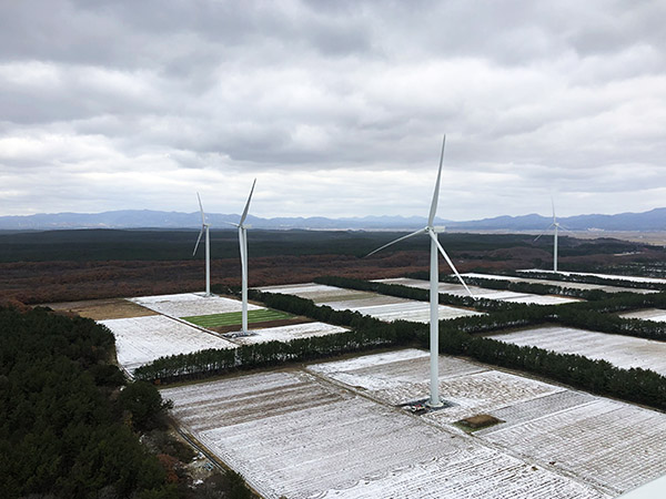 Tsugaru Wind farm japan winter FPT Global